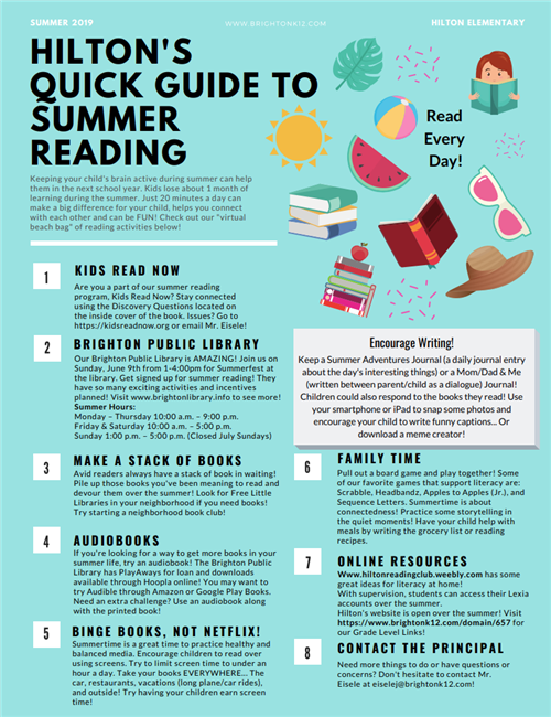 Hilton Summer Reading
